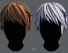 realtime 3D Hair style for Man TypeB V02