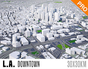 Los Angeles Downtown Center City Town USA 3D model 1