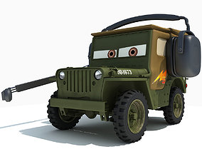 3D model Sarge Character form Movie Cars