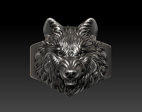 Angry wolf ring 3D print model