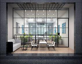 Coffee Shop Interior 3D