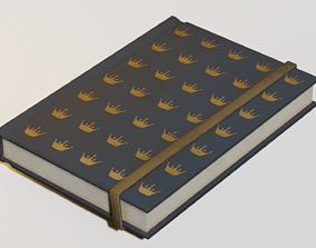 3D asset Lowpoly book