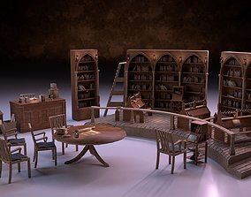 Medieval Library Model Pack PBR realtime