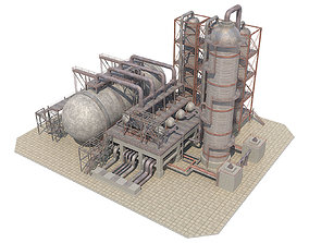 3D asset Industrial Oil Refinery 06