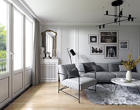 living 3D Interior Scene