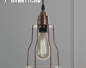 Hanging lamp Romatti Red Filament Marconi Cage 3D