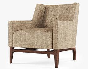 Trestle Lounge Chair 3D