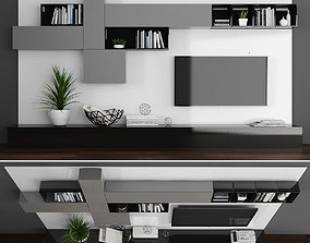 Tv stand 3D asset low-poly