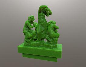 Sculpture Girls after bath 3D printable model