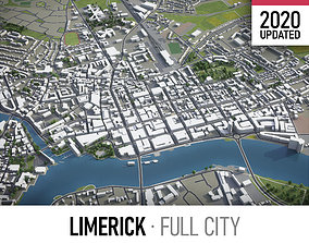 Limerick - city and surroundings 3D asset