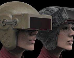 Futuristic Scout Helmet 3D model