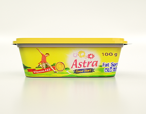 100g Margarine Box 3D