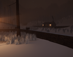 3D model Winter Cottage Unity HDRP