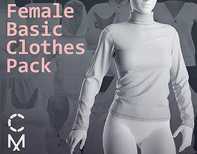 Female basic clothes pack Marvelous Clo 3D 18 zprj