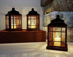 Big wooden lamp Norvedem 3D model realtime