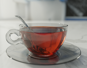 3D model game-ready Cup of tea