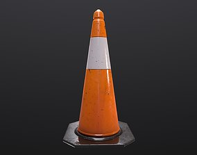 Traffic Cone 3D asset VR / AR ready