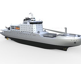 Complated Research And Patrol Vessel 3D model