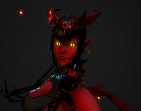 3D model Demoness from Underworld - Game Ready