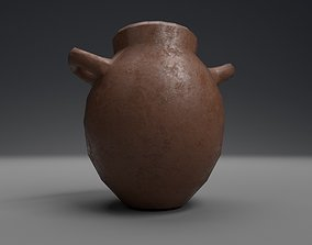 3D model game-ready Ancient clay pot
