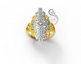 3D print model Scattering of gems pattern