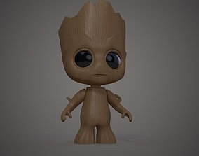 toy 3D print model Groot