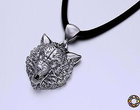 3D print model Pendant wolf head 0190