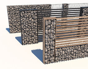 modern fence collection 3D asset | CGTrader