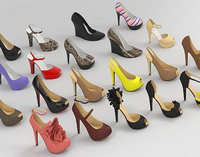 3D model Fashion Women Shoes fashion outfit collection