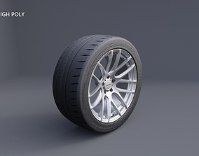 3D model XIX XF-43 car wheel tyre and rim