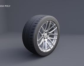 3D model XIX XF-43 car wheel tyre and rim