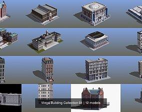Mega Building Collection 01 3D model