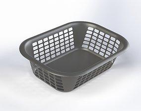 Plastic basket laundry 3D