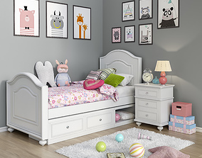 3D model Toys and furniture set 8