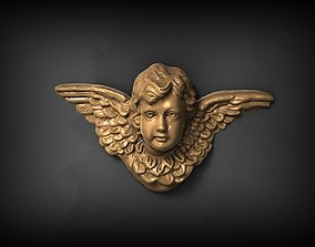 wings 3D print model Angel Pendant