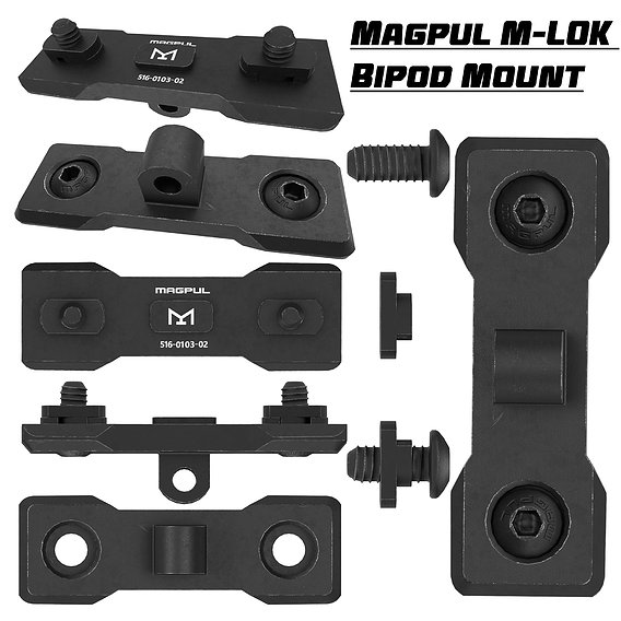 Magpul MLOK Bipod Mount PBR Low-poly 3D model