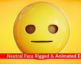 Neutral Face Animated Emoji Reaction 3D asset