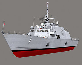 US Navy Littoral Combat Ship LCS-1 USS Freedom MAX 3D