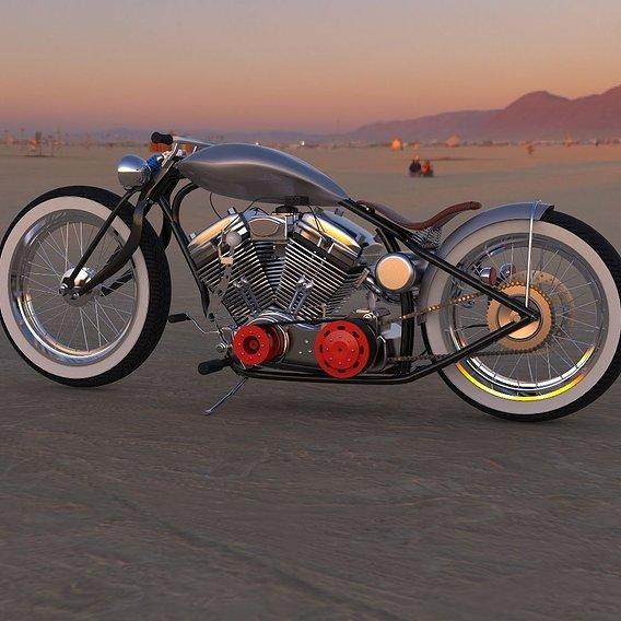The 'West Wind' Custom bobber Concept Bike