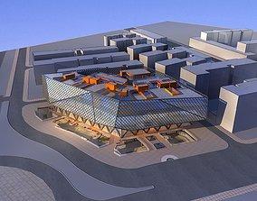 3D model Commercial Building structure city