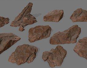 desert rock 1 3D model