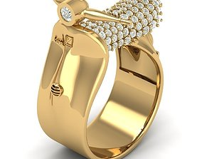 3D printable model silver 13 Vespa Ring