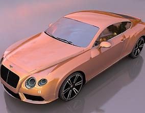 Bentley gtv8 3D model low-poly