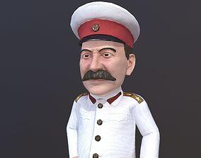 3D asset Joseph Stalin caricature