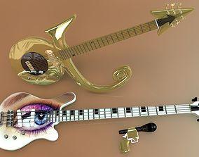 gun 3D model Prince Symbol Guitar and Eye Bass