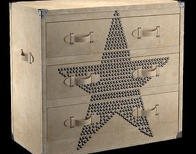 3D model Chest of Drawers Andrew Martin Star