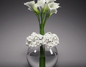 Calla Lily Hydrangeas Arrangements 3D model