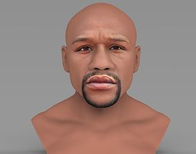 Floyd Mayweather bust ready for full color 3D printing