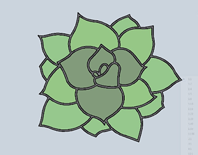 Stl file succulent cookie cutter for printing on 3D