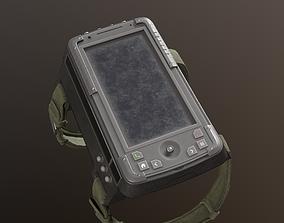 3D model Military wrist tablet
